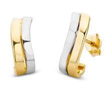 Ohrringe Bicolor Gelbgold / Weißgold 14 Karat / 585 Gold