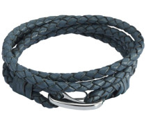 Damen-Armband Edelstahl Leder 38 cm - 609070181