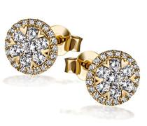 Ohrstecker 585 Gelbgold Diamant (0.70 ct) weiß Brillantschliff-Pa O7694GG