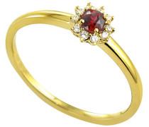 Ring 9 Karat (375) Gelbgold Rubin badm 07047-0001