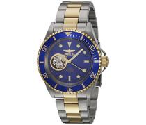 21719 Pro Diver Uhr Edelstahl Automatik blauen Zifferblat
