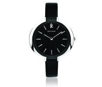 034l633 – Week End Linie Pure Armbanduhr – Quarz Analog – Zifferblatt schwarz Armband Leder schwarz