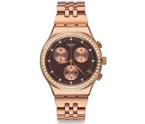 Erwachsene Chronograph Quarz Uhr mit Edelstahl Armband YCG414G