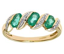 Ring 375 Gelbgold 23 Granate Diamant 9 Karat
