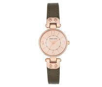 Datum klassisch Quarz Uhr mit Leder Armband 10/N9442RGOL