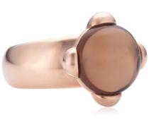 Damen-Ring Vergoldetes Metall Rauchquarz braun