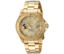 24756 Disney Limited Edition - Mickey Mouse Uhr Edelstahl Automatik Champagnerfarbe Zifferblat