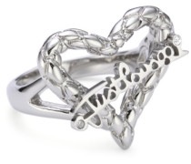 Damen-Ring Cross PVD silber