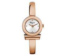 Salvatore Ferragamo Gancino Bracelet Quarzuhr mit Silber Zifferblatt und Rose Gold Armband FQ5050014
