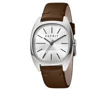 Analog Quarz Uhr mit Leder Armband ES1G038L0015