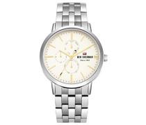 Datum klassisch Quarz Uhr mit Edelstahl Armband WBS104SM