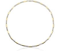 Halskette Titan Diamant 42.0 cm weiß 0866-04