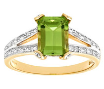 Damen-Ring 375 Gelbgold 25 Zirkonia 9 Karat