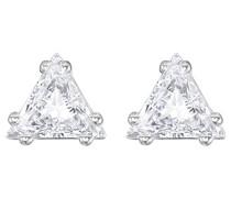 Ohrstecker Edelstahl rhodiniert Kristall weiß 0.5 cm - 5274074