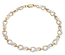 Armband 9 Karat Gelbgold PavéFassung