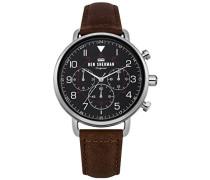Multi Zifferblatt Quarz Uhr mit Leder Armband WB068BBR