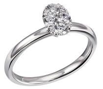 Ring 585 Weißgold Diamant (0.34 ct) weiß Brillantschliff - Pa R7383WG