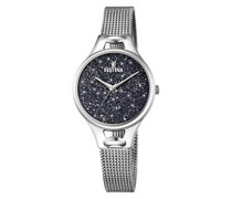 Analog Quarz Uhr mit Edelstahl Armband F20331/3