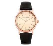 Damen Analog Quarz Uhr mit Leder Armband DD006BRG