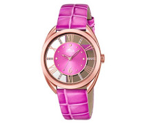 Damen-Armbanduhr Analog Quarz Leder 18226/1