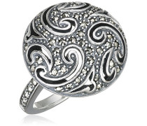Ring 925 Silber vintage-oxidized Markasit 54 (17.2) - L0020R/90/B3/54
