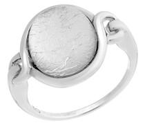 Ring 925 rhodiniert Glas silber Rundschliff
