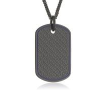 Jewelry Kette mit Anhänger Men's Casual Edelstahl schwarz 61 cm - 2700691