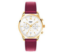 Chronograph Quarz Uhr mit Leder Armband HL39-CS-0070