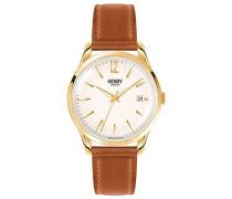 Erwachsene Analog Quarz Uhr mit Leder Armband HL39-S-0012