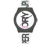 Analog Quarz Uhr mit Silikon Armband SYL189WB