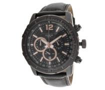 Herren-Armbanduhr XL Analog Quarz Leder W19006G2