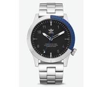 Analog Quarz Smart Watch Armbanduhr mit Edelstahl Armband Z03-2184-00