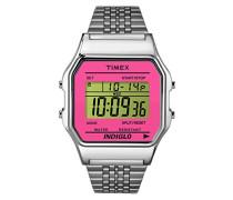 Armbanduhr Digital Quarz Edelstahl TW2P65000
