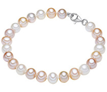 Armband 925 Silber rhodiniert Perle Süßwasser-Zuchtperle 17 cm - 609210173