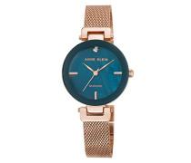 Analog Klassisch Quarz Uhr mit Edelstahl Armband AK/N2472NMRG