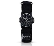 Unisex-Armbanduhr Analog Nylon schwarz 3981.05