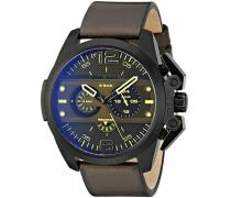 Chronograph Quarz Uhr mit Leder Armband DZ4364