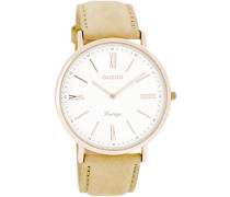 Damen-Armbanduhr Analog Quarz Leder C7350