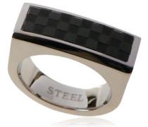unisex Stainless Steel Ring Schwarz IP-Plating