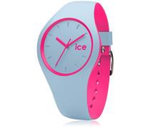ICE duo Blue Pink - Blaue Damenuhr mit Silikonarmband - 001499 (Medium)