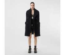 Shorts aus Satin und Spitze mit Kronkorkendetails