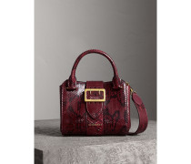 The Small Buckle Tote aus Pythonleder