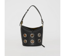 The Medium Bucket Bag aus Leder mit Ösendetails