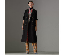 Eleganter Mantel aus Leinen und Seide
