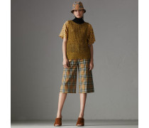 Culotte aus Wolle mit Vintage Check-Muster