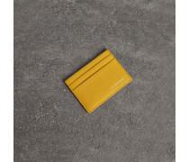 Kartenetui aus genarbtem Leder