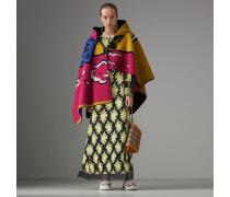 Langärmeliges Kleid mit floraler Stickerei