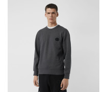 Sweatshirt aus Baumwolle mit Emblem-Stickerei