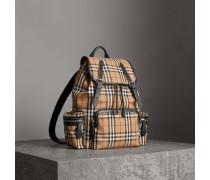 The Large Rucksack aus Vintage Check-Gewebe