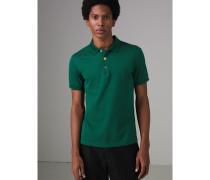 Poloshirt aus Baumwollpiqué in Pinselstrichoptik